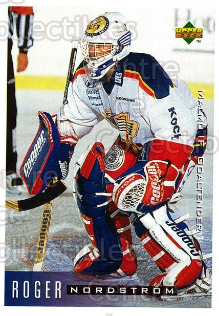 1995-96 Swedish Upper Deck #133 Roger Nordstrom<br/>5 In Stock - $2.00 each - <a href=https://centericecollectibles.foxycart.com/cart?name=1995-96%20Swedish%20Upper%20Deck%20%23133%20Roger%20Nordstrom...&quantity_max=5&price=$2.00&code=44397 class=foxycart> Buy it now! </a>