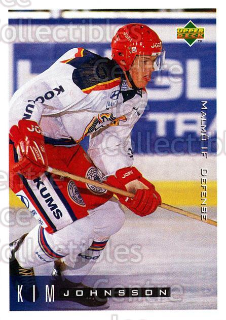 1995-96 Swedish Upper Deck #134 Kim Johnsson<br/>8 In Stock - $2.00 each - <a href=https://centericecollectibles.foxycart.com/cart?name=1995-96%20Swedish%20Upper%20Deck%20%23134%20Kim%20Johnsson...&quantity_max=8&price=$2.00&code=44398 class=foxycart> Buy it now! </a>