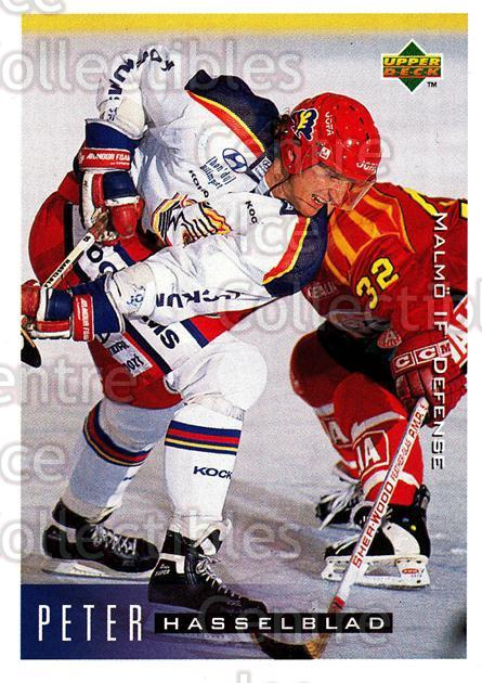1995-96 Swedish Upper Deck #135 Peter Hasselblad<br/>10 In Stock - $2.00 each - <a href=https://centericecollectibles.foxycart.com/cart?name=1995-96%20Swedish%20Upper%20Deck%20%23135%20Peter%20Hasselbla...&quantity_max=10&price=$2.00&code=44399 class=foxycart> Buy it now! </a>