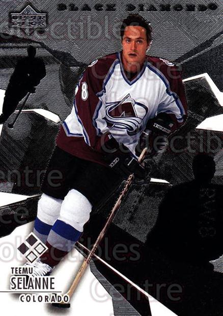 2003-04 Black Diamond #107 Teemu Selanne<br/>3 In Stock - $5.00 each - <a href=https://centericecollectibles.foxycart.com/cart?name=2003-04%20Black%20Diamond%20%23107%20Teemu%20Selanne...&quantity_max=3&price=$5.00&code=444010 class=foxycart> Buy it now! </a>