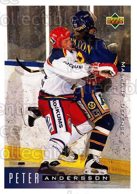 1995-96 Swedish Upper Deck #138 Peter Andersson<br/>12 In Stock - $2.00 each - <a href=https://centericecollectibles.foxycart.com/cart?name=1995-96%20Swedish%20Upper%20Deck%20%23138%20Peter%20Andersson...&quantity_max=12&price=$2.00&code=44402 class=foxycart> Buy it now! </a>