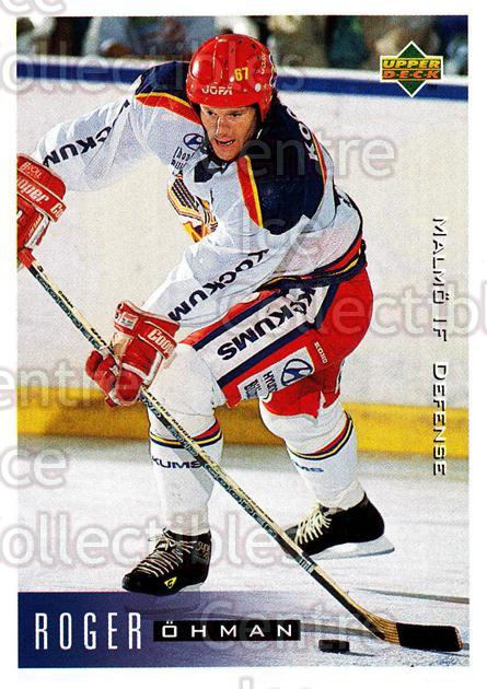 1995-96 Swedish Upper Deck #139 Roger Ohman<br/>7 In Stock - $2.00 each - <a href=https://centericecollectibles.foxycart.com/cart?name=1995-96%20Swedish%20Upper%20Deck%20%23139%20Roger%20Ohman...&quantity_max=7&price=$2.00&code=44403 class=foxycart> Buy it now! </a>