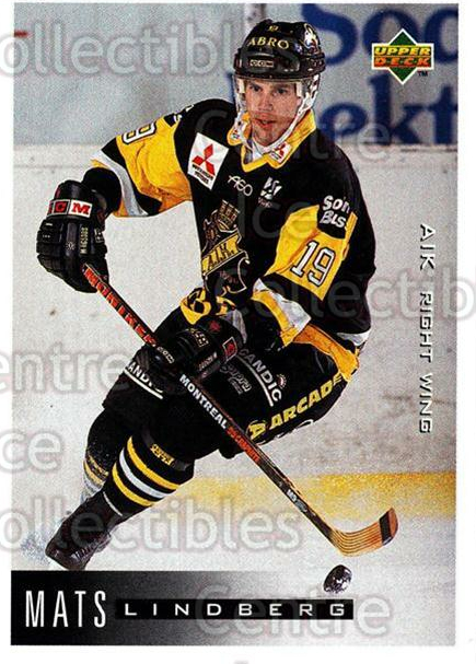 1995-96 Swedish Upper Deck #14 Mats Lindberg<br/>10 In Stock - $2.00 each - <a href=https://centericecollectibles.foxycart.com/cart?name=1995-96%20Swedish%20Upper%20Deck%20%2314%20Mats%20Lindberg...&quantity_max=10&price=$2.00&code=44404 class=foxycart> Buy it now! </a>