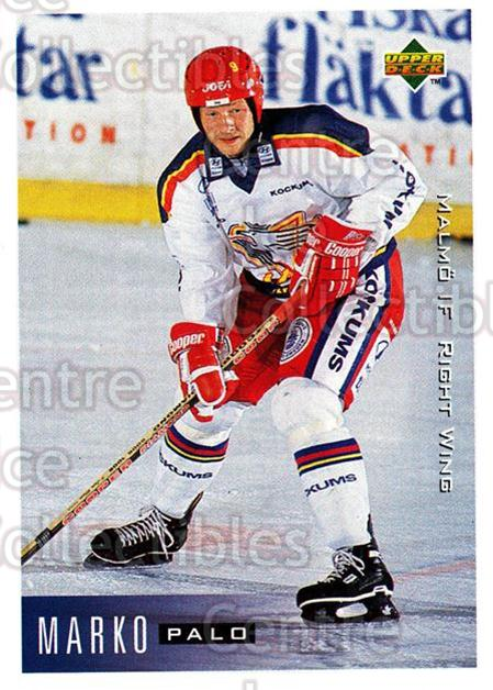 1995-96 Swedish Upper Deck #140 Marko Palo<br/>10 In Stock - $2.00 each - <a href=https://centericecollectibles.foxycart.com/cart?name=1995-96%20Swedish%20Upper%20Deck%20%23140%20Marko%20Palo...&quantity_max=10&price=$2.00&code=44405 class=foxycart> Buy it now! </a>