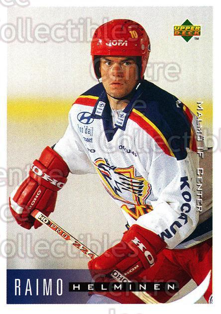 1995-96 Swedish Upper Deck #141 Raimo Helminen<br/>3 In Stock - $2.00 each - <a href=https://centericecollectibles.foxycart.com/cart?name=1995-96%20Swedish%20Upper%20Deck%20%23141%20Raimo%20Helminen...&quantity_max=3&price=$2.00&code=44406 class=foxycart> Buy it now! </a>