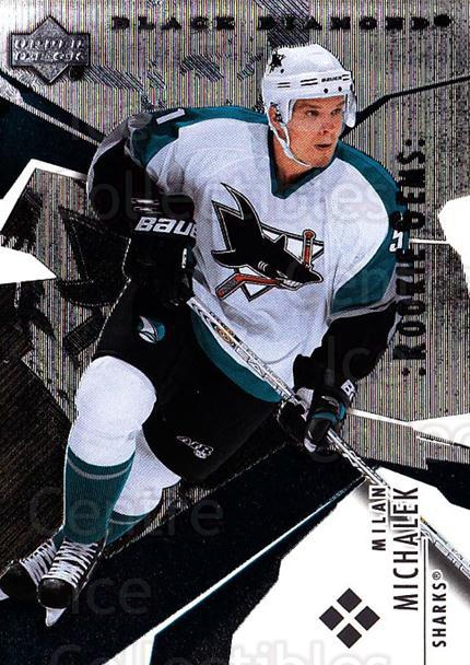 2003-04 Black Diamond #186 Milan Michalek<br/>1 In Stock - $5.00 each - <a href=https://centericecollectibles.foxycart.com/cart?name=2003-04%20Black%20Diamond%20%23186%20Milan%20Michalek...&quantity_max=1&price=$5.00&code=444089 class=foxycart> Buy it now! </a>