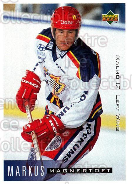 1995-96 Swedish Upper Deck #143 Marcus Magnertoft<br/>7 In Stock - $2.00 each - <a href=https://centericecollectibles.foxycart.com/cart?name=1995-96%20Swedish%20Upper%20Deck%20%23143%20Marcus%20Magnerto...&quantity_max=7&price=$2.00&code=44408 class=foxycart> Buy it now! </a>