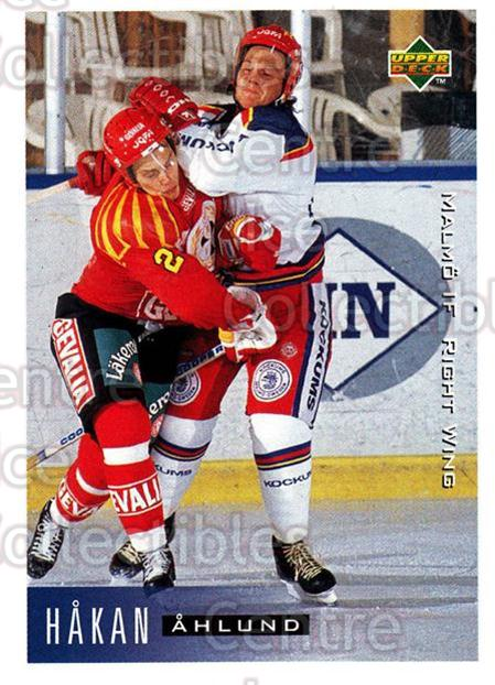 1995-96 Swedish Upper Deck #148 Hakan Ahlund<br/>5 In Stock - $2.00 each - <a href=https://centericecollectibles.foxycart.com/cart?name=1995-96%20Swedish%20Upper%20Deck%20%23148%20Hakan%20Ahlund...&quantity_max=5&price=$2.00&code=44413 class=foxycart> Buy it now! </a>