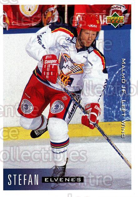1995-96 Swedish Upper Deck #150 Stefan Elvenes<br/>10 In Stock - $2.00 each - <a href=https://centericecollectibles.foxycart.com/cart?name=1995-96%20Swedish%20Upper%20Deck%20%23150%20Stefan%20Elvenes...&quantity_max=10&price=$2.00&code=44416 class=foxycart> Buy it now! </a>