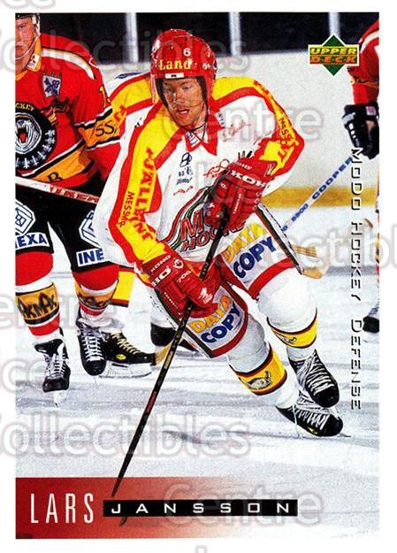 1995-96 Swedish Upper Deck #154 Lars Jansson<br/>13 In Stock - $2.00 each - <a href=https://centericecollectibles.foxycart.com/cart?name=1995-96%20Swedish%20Upper%20Deck%20%23154%20Lars%20Jansson...&quantity_max=13&price=$2.00&code=44420 class=foxycart> Buy it now! </a>