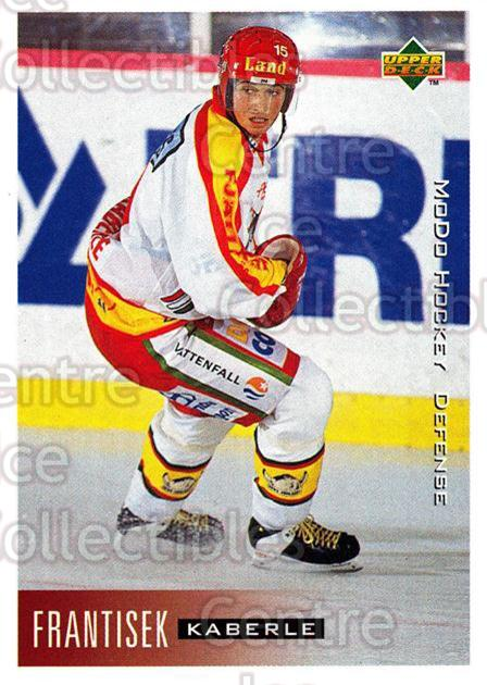 1995-96 Swedish Upper Deck #155 Frantisek Kaberle<br/>3 In Stock - $2.00 each - <a href=https://centericecollectibles.foxycart.com/cart?name=1995-96%20Swedish%20Upper%20Deck%20%23155%20Frantisek%20Kaber...&quantity_max=3&price=$2.00&code=44421 class=foxycart> Buy it now! </a>