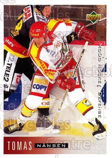 1995-96 Swedish Upper Deck #157 Tomas Nansen<br/>11 In Stock - $2.00 each - <a href=https://centericecollectibles.foxycart.com/cart?name=1995-96%20Swedish%20Upper%20Deck%20%23157%20Tomas%20Nansen...&quantity_max=11&price=$2.00&code=44423 class=foxycart> Buy it now! </a>