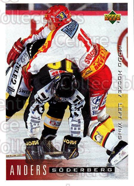 1995-96 Swedish Upper Deck #161 Anders Soderberg<br/>9 In Stock - $2.00 each - <a href=https://centericecollectibles.foxycart.com/cart?name=1995-96%20Swedish%20Upper%20Deck%20%23161%20Anders%20Soderber...&quantity_max=9&price=$2.00&code=44428 class=foxycart> Buy it now! </a>