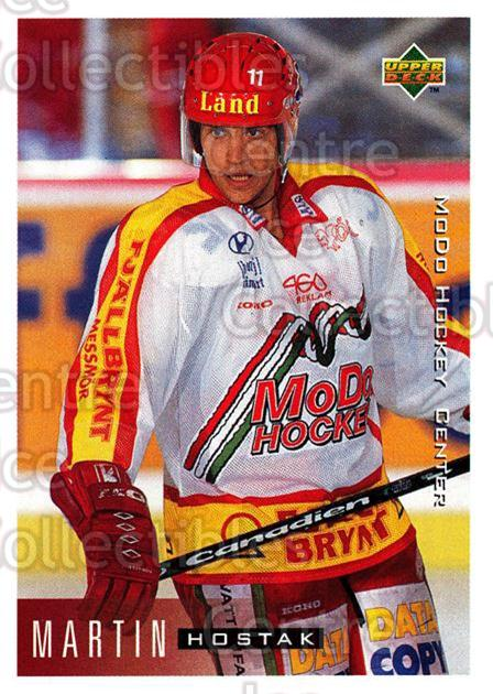 1995-96 Swedish Upper Deck #162 Martin Hostak<br/>9 In Stock - $2.00 each - <a href=https://centericecollectibles.foxycart.com/cart?name=1995-96%20Swedish%20Upper%20Deck%20%23162%20Martin%20Hostak...&quantity_max=9&price=$2.00&code=44429 class=foxycart> Buy it now! </a>