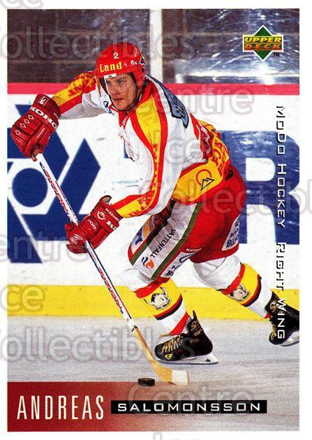 1995-96 Swedish Upper Deck #167 Andreas Salomonsson<br/>10 In Stock - $2.00 each - <a href=https://centericecollectibles.foxycart.com/cart?name=1995-96%20Swedish%20Upper%20Deck%20%23167%20Andreas%20Salomon...&quantity_max=10&price=$2.00&code=44434 class=foxycart> Buy it now! </a>