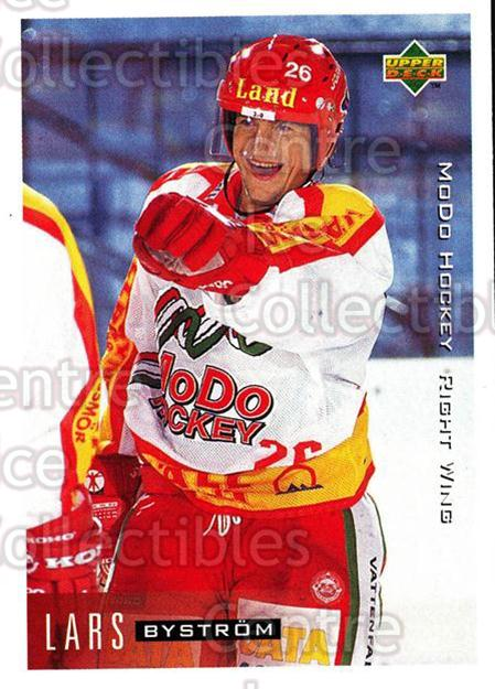 1995-96 Swedish Upper Deck #169 Lars Bystrom<br/>9 In Stock - $2.00 each - <a href=https://centericecollectibles.foxycart.com/cart?name=1995-96%20Swedish%20Upper%20Deck%20%23169%20Lars%20Bystrom...&quantity_max=9&price=$2.00&code=44436 class=foxycart> Buy it now! </a>