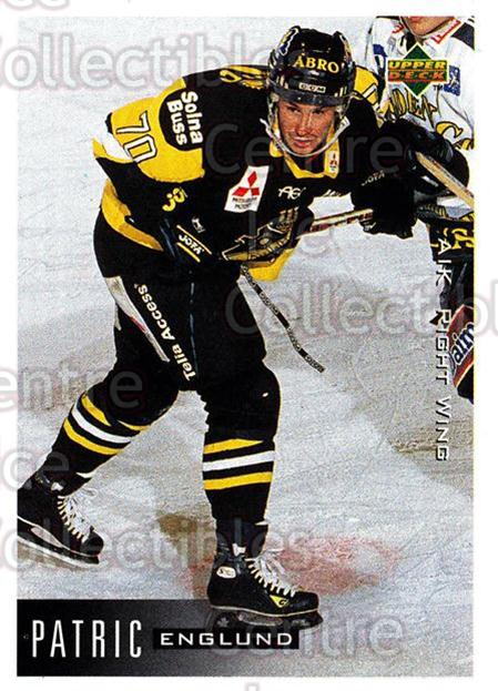 1995-96 Swedish Upper Deck #17 Patric Englund<br/>10 In Stock - $2.00 each - <a href=https://centericecollectibles.foxycart.com/cart?name=1995-96%20Swedish%20Upper%20Deck%20%2317%20Patric%20Englund...&quantity_max=10&price=$2.00&code=44437 class=foxycart> Buy it now! </a>