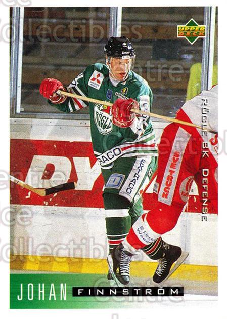 1995-96 Swedish Upper Deck #173 Johan Finnstrom<br/>11 In Stock - $2.00 each - <a href=https://centericecollectibles.foxycart.com/cart?name=1995-96%20Swedish%20Upper%20Deck%20%23173%20Johan%20Finnstrom...&quantity_max=11&price=$2.00&code=44441 class=foxycart> Buy it now! </a>