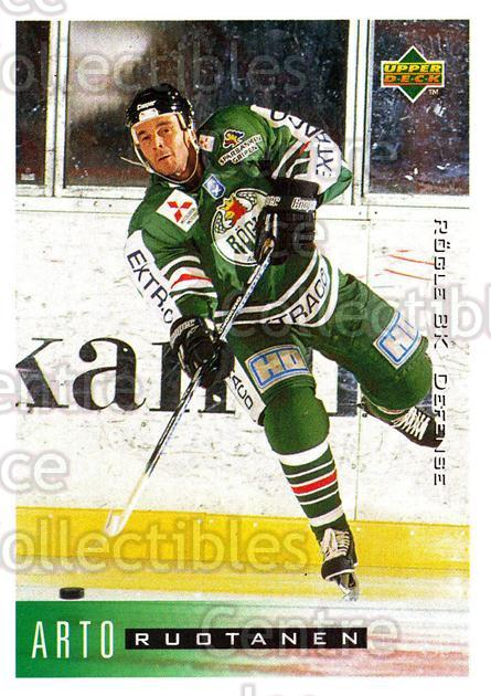 1995-96 Swedish Upper Deck #174 Arto Ruotanen<br/>9 In Stock - $2.00 each - <a href=https://centericecollectibles.foxycart.com/cart?name=1995-96%20Swedish%20Upper%20Deck%20%23174%20Arto%20Ruotanen...&quantity_max=9&price=$2.00&code=44442 class=foxycart> Buy it now! </a>