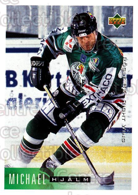 1995-96 Swedish Upper Deck #180 Michael Hjalm<br/>10 In Stock - $2.00 each - <a href=https://centericecollectibles.foxycart.com/cart?name=1995-96%20Swedish%20Upper%20Deck%20%23180%20Michael%20Hjalm...&quantity_max=10&price=$2.00&code=44449 class=foxycart> Buy it now! </a>