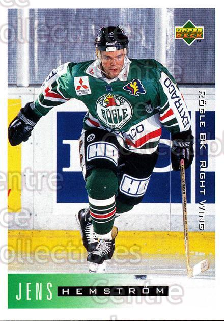 1995-96 Swedish Upper Deck #181 Jens Hemstrom<br/>9 In Stock - $2.00 each - <a href=https://centericecollectibles.foxycart.com/cart?name=1995-96%20Swedish%20Upper%20Deck%20%23181%20Jens%20Hemstrom...&quantity_max=9&price=$2.00&code=44450 class=foxycart> Buy it now! </a>