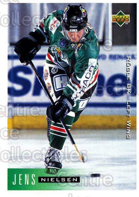 1995-96 Swedish Upper Deck #184 Jens Nielsen<br/>9 In Stock - $2.00 each - <a href=https://centericecollectibles.foxycart.com/cart?name=1995-96%20Swedish%20Upper%20Deck%20%23184%20Jens%20Nielsen...&quantity_max=9&price=$2.00&code=44453 class=foxycart> Buy it now! </a>