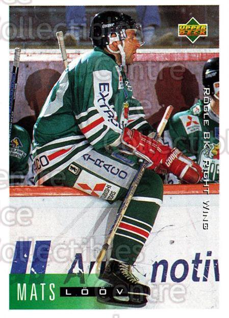 1995-96 Swedish Upper Deck #185 Mats Loov<br/>9 In Stock - $2.00 each - <a href=https://centericecollectibles.foxycart.com/cart?name=1995-96%20Swedish%20Upper%20Deck%20%23185%20Mats%20Loov...&quantity_max=9&price=$2.00&code=44454 class=foxycart> Buy it now! </a>
