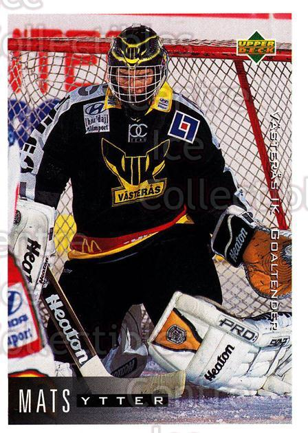 1995-96 Swedish Upper Deck #186 Mats Ytter<br/>9 In Stock - $2.00 each - <a href=https://centericecollectibles.foxycart.com/cart?name=1995-96%20Swedish%20Upper%20Deck%20%23186%20Mats%20Ytter...&quantity_max=9&price=$2.00&code=44455 class=foxycart> Buy it now! </a>