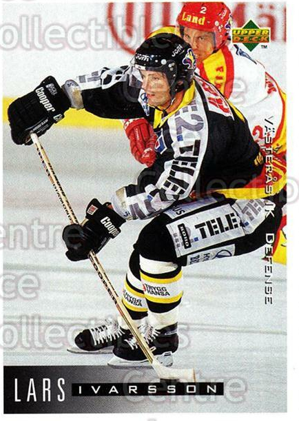1995-96 Swedish Upper Deck #187 Lars Ivarsson<br/>9 In Stock - $2.00 each - <a href=https://centericecollectibles.foxycart.com/cart?name=1995-96%20Swedish%20Upper%20Deck%20%23187%20Lars%20Ivarsson...&quantity_max=9&price=$2.00&code=44456 class=foxycart> Buy it now! </a>