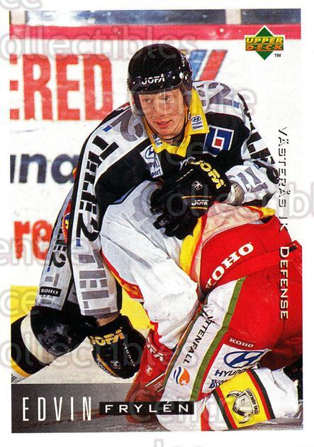 1995-96 Swedish Upper Deck #188 Edvin Frylen<br/>12 In Stock - $2.00 each - <a href=https://centericecollectibles.foxycart.com/cart?name=1995-96%20Swedish%20Upper%20Deck%20%23188%20Edvin%20Frylen...&quantity_max=12&price=$2.00&code=44457 class=foxycart> Buy it now! </a>