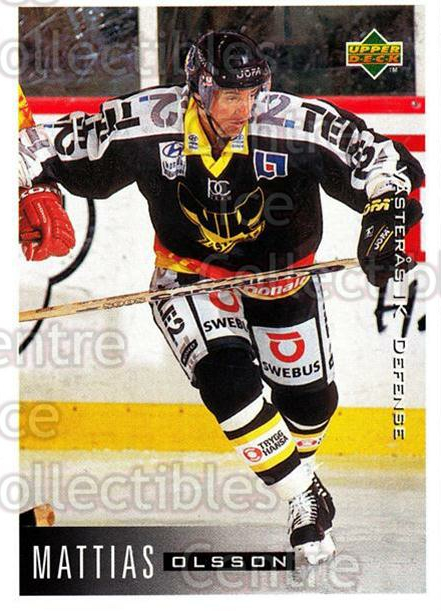 1995-96 Swedish Upper Deck #191 Mattias Olsson<br/>12 In Stock - $2.00 each - <a href=https://centericecollectibles.foxycart.com/cart?name=1995-96%20Swedish%20Upper%20Deck%20%23191%20Mattias%20Olsson...&quantity_max=12&price=$2.00&code=44461 class=foxycart> Buy it now! </a>