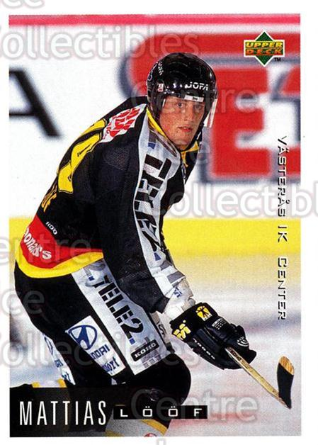 1995-96 Swedish Upper Deck #198 Mattias Loof<br/>10 In Stock - $2.00 each - <a href=https://centericecollectibles.foxycart.com/cart?name=1995-96%20Swedish%20Upper%20Deck%20%23198%20Mattias%20Loof...&quantity_max=10&price=$2.00&code=44468 class=foxycart> Buy it now! </a>