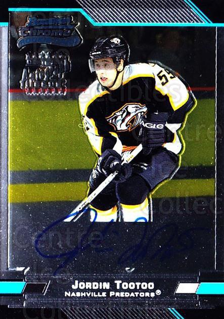 2003-04 Bowman Chrome #154 Jordin Tootoo<br/>1 In Stock - $20.00 each - <a href=https://centericecollectibles.foxycart.com/cart?name=2003-04%20Bowman%20Chrome%20%23154%20Jordin%20Tootoo...&quantity_max=1&price=$20.00&code=444725 class=foxycart> Buy it now! </a>