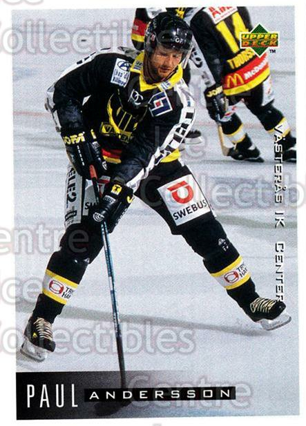 1995-96 Swedish Upper Deck #200 Paul Andersson<br/>12 In Stock - $2.00 each - <a href=https://centericecollectibles.foxycart.com/cart?name=1995-96%20Swedish%20Upper%20Deck%20%23200%20Paul%20Andersson...&quantity_max=12&price=$2.00&code=44472 class=foxycart> Buy it now! </a>