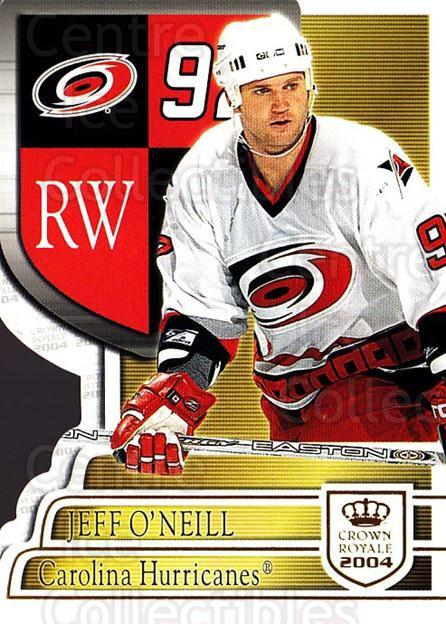 2003-04 Crown Royale #17 Jeff O'Neill<br/>3 In Stock - $1.00 each - <a href=https://centericecollectibles.foxycart.com/cart?name=2003-04%20Crown%20Royale%20%2317%20Jeff%20O'Neill...&quantity_max=3&price=$1.00&code=444748 class=foxycart> Buy it now! </a>