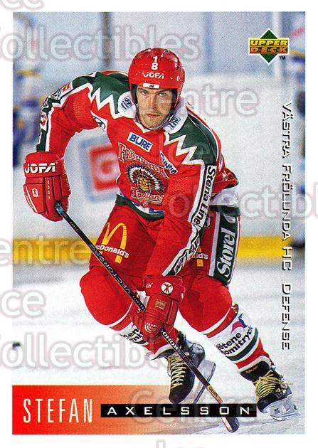 1995-96 Swedish Upper Deck #206 Stefan Axelsson<br/>11 In Stock - $2.00 each - <a href=https://centericecollectibles.foxycart.com/cart?name=1995-96%20Swedish%20Upper%20Deck%20%23206%20Stefan%20Axelsson...&quantity_max=11&price=$2.00&code=44477 class=foxycart> Buy it now! </a>