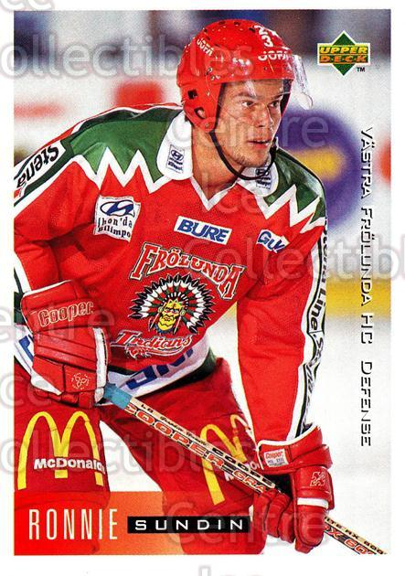 1995-96 Swedish Upper Deck #207 Ronnie Sundin<br/>13 In Stock - $2.00 each - <a href=https://centericecollectibles.foxycart.com/cart?name=1995-96%20Swedish%20Upper%20Deck%20%23207%20Ronnie%20Sundin...&quantity_max=13&price=$2.00&code=44478 class=foxycart> Buy it now! </a>
