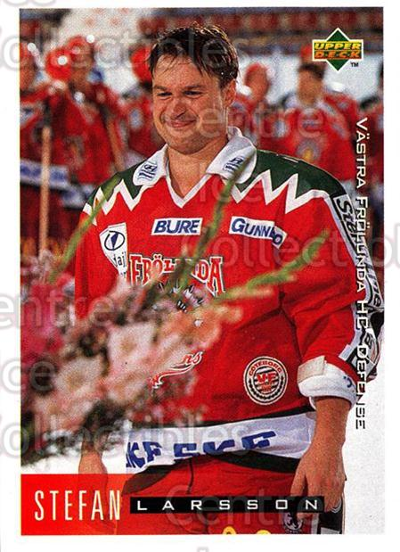 1995-96 Swedish Upper Deck #208 Stefan Larsson<br/>10 In Stock - $2.00 each - <a href=https://centericecollectibles.foxycart.com/cart?name=1995-96%20Swedish%20Upper%20Deck%20%23208%20Stefan%20Larsson...&quantity_max=10&price=$2.00&code=44479 class=foxycart> Buy it now! </a>