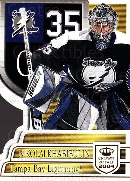 2003-04 Crown Royale #88 Nikolai Khabibulin<br/>3 In Stock - $1.00 each - <a href=https://centericecollectibles.foxycart.com/cart?name=2003-04%20Crown%20Royale%20%2388%20Nikolai%20Khabibu...&quantity_max=3&price=$1.00&code=444803 class=foxycart> Buy it now! </a>
