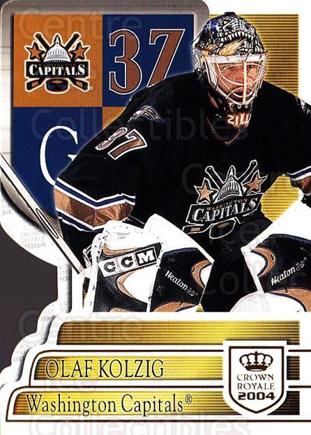 2003-04 Crown Royale #100 Olaf Kolzig<br/>6 In Stock - $1.00 each - <a href=https://centericecollectibles.foxycart.com/cart?name=2003-04%20Crown%20Royale%20%23100%20Olaf%20Kolzig...&quantity_max=6&price=$1.00&code=444828 class=foxycart> Buy it now! </a>