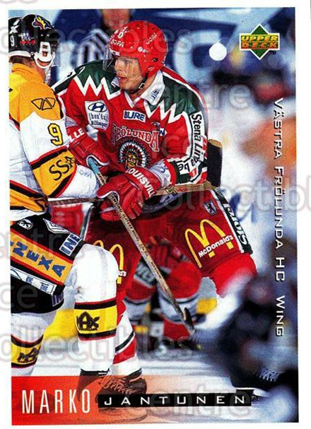 1995-96 Swedish Upper Deck #211 Marko Jantunen<br/>12 In Stock - $2.00 each - <a href=https://centericecollectibles.foxycart.com/cart?name=1995-96%20Swedish%20Upper%20Deck%20%23211%20Marko%20Jantunen...&quantity_max=12&price=$2.00&code=44483 class=foxycart> Buy it now! </a>