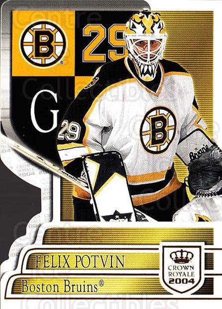 2003-04 Crown Royale #8 Felix Potvin<br/>1 In Stock - $2.00 each - <a href=https://centericecollectibles.foxycart.com/cart?name=2003-04%20Crown%20Royale%20%238%20Felix%20Potvin...&quantity_max=1&price=$2.00&code=444840 class=foxycart> Buy it now! </a>