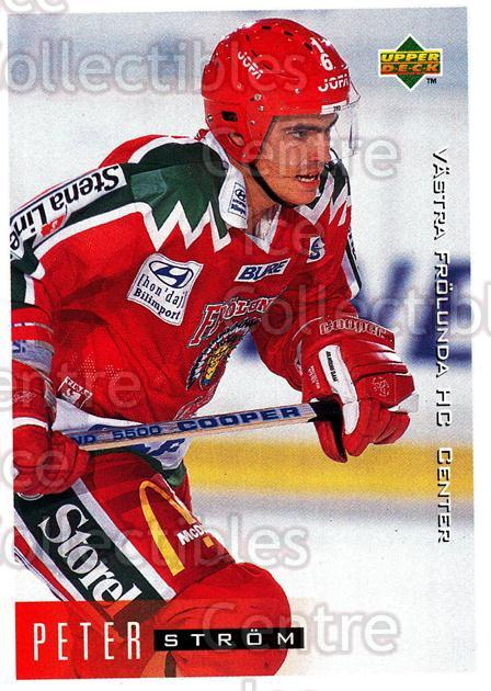 1995-96 Swedish Upper Deck #212 Peter Strom<br/>9 In Stock - $2.00 each - <a href=https://centericecollectibles.foxycart.com/cart?name=1995-96%20Swedish%20Upper%20Deck%20%23212%20Peter%20Strom...&quantity_max=9&price=$2.00&code=44484 class=foxycart> Buy it now! </a>