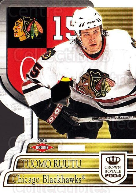 2003-04 Crown Royale #108 Tuomo Ruutu<br/>1 In Stock - $5.00 each - <a href=https://centericecollectibles.foxycart.com/cart?name=2003-04%20Crown%20Royale%20%23108%20Tuomo%20Ruutu...&quantity_max=1&price=$5.00&code=444855 class=foxycart> Buy it now! </a>