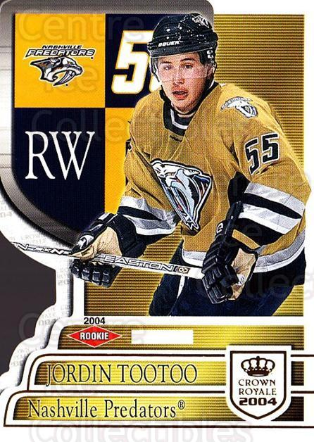 2003-04 Crown Royale #124 Jordin Tootoo<br/>1 In Stock - $5.00 each - <a href=https://centericecollectibles.foxycart.com/cart?name=2003-04%20Crown%20Royale%20%23124%20Jordin%20Tootoo...&quantity_max=1&price=$5.00&code=444858 class=foxycart> Buy it now! </a>