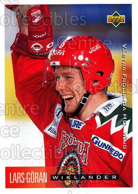 1995-96 Swedish Upper Deck #217 Lars-Goran Wiklander<br/>8 In Stock - $2.00 each - <a href=https://centericecollectibles.foxycart.com/cart?name=1995-96%20Swedish%20Upper%20Deck%20%23217%20Lars-Goran%20Wikl...&quantity_max=8&price=$2.00&code=44489 class=foxycart> Buy it now! </a>