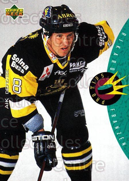 1995-96 Swedish Upper Deck #219 Rikard Franzen<br/>10 In Stock - $2.00 each - <a href=https://centericecollectibles.foxycart.com/cart?name=1995-96%20Swedish%20Upper%20Deck%20%23219%20Rikard%20Franzen...&quantity_max=10&price=$2.00&code=44491 class=foxycart> Buy it now! </a>