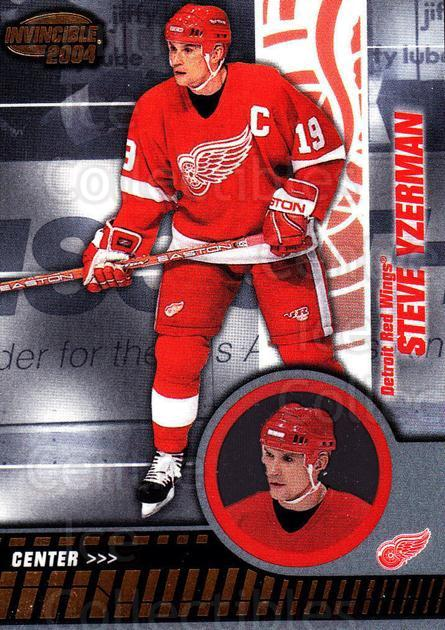 2003-04 Invincible #36 Steve Yzerman<br/>3 In Stock - $3.00 each - <a href=https://centericecollectibles.foxycart.com/cart?name=2003-04%20Invincible%20%2336%20Steve%20Yzerman...&quantity_max=3&price=$3.00&code=444955 class=foxycart> Buy it now! </a>
