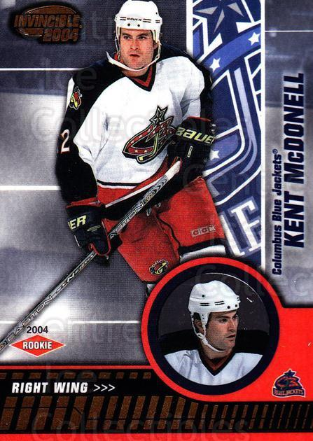 2003-04 Invincible #109 Kent McDonell<br/>3 In Stock - $3.00 each - <a href=https://centericecollectibles.foxycart.com/cart?name=2003-04%20Invincible%20%23109%20Kent%20McDonell...&quantity_max=3&price=$3.00&code=444960 class=foxycart> Buy it now! </a>