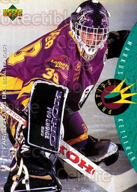 1995-96 Swedish Upper Deck #224 Markus Ketterer<br/>10 In Stock - $2.00 each - <a href=https://centericecollectibles.foxycart.com/cart?name=1995-96%20Swedish%20Upper%20Deck%20%23224%20Markus%20Ketterer...&quantity_max=10&price=$2.00&code=44496 class=foxycart> Buy it now! </a>